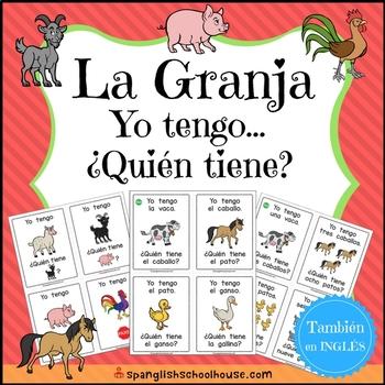 Yo Tengo, ¿Quién Tiene? La Granja {I Have, Who Has Farm in Spanish}