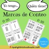Yo Tengo, Quién Tiene Marcas de Conteo {I Have, Who Has Tally Marks in Spanish}