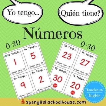 Yo Tengo, Quién Tiene Números {I Have, Who Has Numbers in