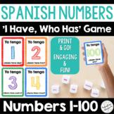 Spanish Numbers 1-100 Printable Game for Learning Los Números en Español