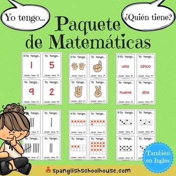 Yo Tengo, ¿Quién Tiene? ~ Spanish Math Game Bundle