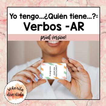 Yo Tengo..., ¿Quién Tiene...? with Present Tense -AR Verbs