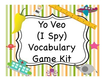 Yo Veo (I Spy) Vocabulary Game Kit