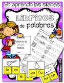 Yo aprendo las sílabas - Libritos de palabras de DOS sílabas