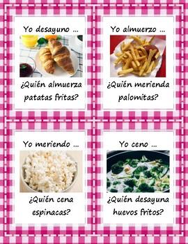 La comida - ¿Quién desayuna/almuerza/cena ...? - Question Chain Game