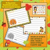 Yo doy gracias - Thankfulness activities -- for novice Spanish learners