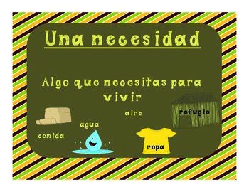 Yo necesito, yo quiero...Mini unit on Economics in Spanish!