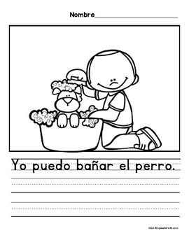 Yo puedo ayudar en casa. Quehaceres. (Chores in Spanish)