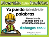 Spanish Phonics Center for Diphthongs - Centro de diptongos de u