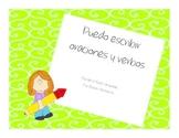 Yo puedo escribir oraciones y verbos-A writing unit in Spanish!