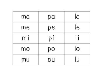 Yo puedo formar palabras con 2 o 3 silabas FREEBIE