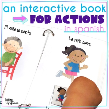 I Can Do Actions Interactive Spanish Vocabulary Book for Speech Therapy