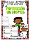 Yo puedo identificar letras y sonidos - Formación de letras
