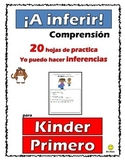Reading Comprehension- Yo puedo inferir! (20 hojas - Inferencias)