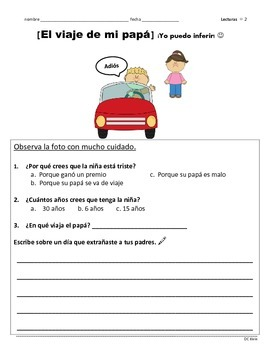 Reading Comprehension- Yo puedo inferir! (20 hojas - Inferencias)