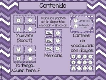 Yo puedo leer el reloj (Spanish Clock Games)