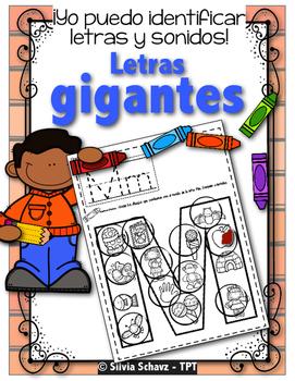 Yo puedo identificar letras y sonidos - Letras gigantes