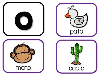 Yo sé las vocales – Pack 2:  Ending Vowel Sounds in Spanish