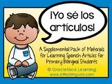 ¡Yo sé los artículos!  Supplemental Materials to Learn Spa
