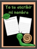 Yo se escribir mi nombre - I can write my name