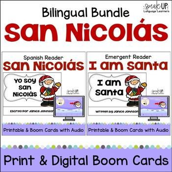Yo soy San Nicolás ~ I am Santa Christmas/Navidad Reader {Bilingual} w BOOM