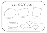 Yo soy así  Spanish Poster for children to complete (All about me)