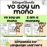 Yo soy un mono ~ I am a Monkey ~ Animal Adjective Readers {Bilingual Bundle}