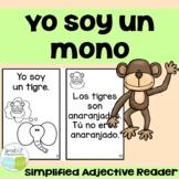 Yo soy un mono ~ Spanish Circus Animal Adjective Reader {en español}