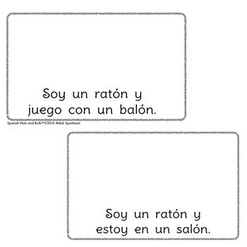 Yo soy un ratón: A beginning Spanish workbook/reader