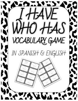Yo tengo/Quién tiene - I have/Who Has - Editable Vocabulary Game