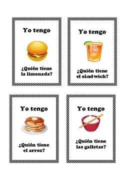 Yo tengo,¿Quién tiene?- I have you have Spanish Food