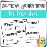 Yo tengo, ¿Quién tiene? game for Spanish Family Vocabulary