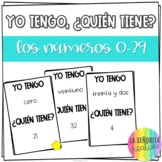 Numbers Spanish Vocab Game | los Números 0-39 | Yo tengo, ¿Quién tiene?