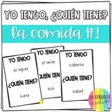 Yo tengo, ¿Quién tiene? game for Spanish 1 Food Vocabulary part 1