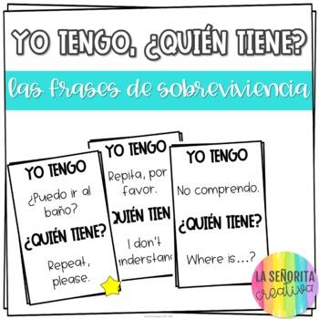 Yo tengo, ¿Quién tiene? game for Spanish Classroom Surviva