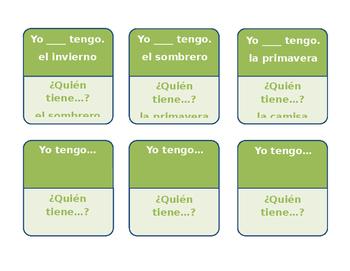 Yo tengo... ¿Quién tiene...? (I have... Who has...?) Direct Object Pronouns