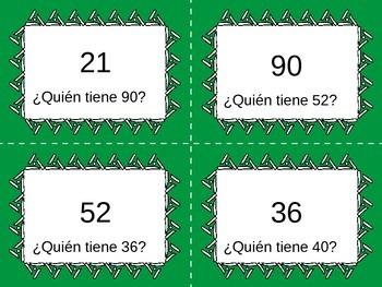 Yo tengo, ¿Quién tiene? Spanish Numbers to 100