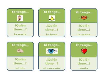 Yo tengo... ¿Quién tiene...? (I have... Who has...?) Template