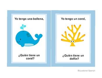 Yo tengo..., ¿quién tiene?, Animales mar / Sea animals