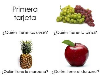 Yo tengo, Quién tiene? Frutas