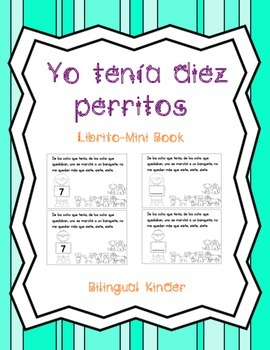 Yo tenia diez perritos  Librito-Mini Book