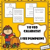 Yo veo calabazas librito/ I see pumpkins mini book