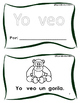 Yo veo + un/una + animales - Librito de palabras frecuentes. HFW books Spanish