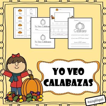 Yo veo una calabaza (mini book and word work) SPANISH