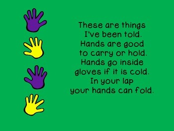 Social Stories for Autism: Yo-yo yiggety yo… Where do my hands go?