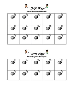 YoYo Bingo mats --A letter recognition game for Y week.