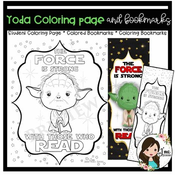 Yoda Coloring Page and Bookmarks