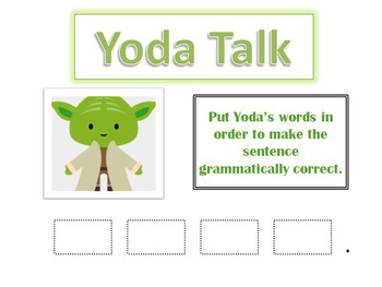 Yoda Talk--Grammar with a Star Wars Flair!