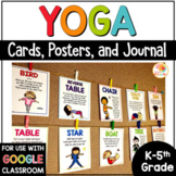 Yoga Cards for Kids | Yoga Pose Cards and Journal for Brain Breaks