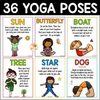 yoga cards for kids  yoga poses  printable yoga posters